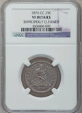 Seated Quarters: , 1876-CC 25C -- Improperly Cleaned -- NGC Details. VF. NGC Census:(6/257). PCGS Population (14/326). Mintage: 4,944,000. Nu...