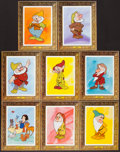 "Movie Posters:Animation, Snow White and the Seven Dwarfs (Buena Vista, R-1970s). Special""Picture Frame"" Lobby Card Set of 8 (11"" X 14""). Animation....(Total: 8 Items)"