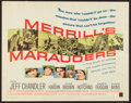 "Movie Posters:War, Merrill's Marauders and Others Lot (Warner Brothers, 1962). HalfSheets (6) (22"" X 28""). War.. ... (Total: 6 Items)"