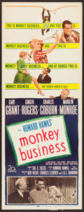 "Movie Posters:Comedy, Monkey Business (20th Century Fox, 1952). Insert (14"" X 36"").Comedy.. ..."