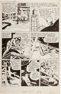 "Jack Kirby and Joe Simon Adventures of the Fly #1 ""Come into My Parlor"" Page 5 Original Art (Archie, 1959)"