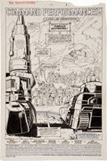 Original Comic Art:Splash Pages, Don Perlin, Ian Akin, and Brian Garvey The Transformers #19Splash Page 1 Original Art (Marvel, 1986)....