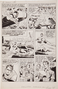 Jack Kirby and Joe Simon The Double Life of Private Strong #1 Page 21 Original Art (Archie, 1959)