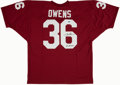 "Football Collectibles:Uniforms, Steve Owens ""'69 Heisman"" Signed Oklahoma Sooners Jersey...."