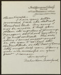 Baseball Collectibles:Others, 1966 Wahoo Sam Crawford Handwritten Signed Letter. ...