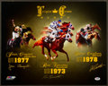 "Miscellaneous Collectibles:General, Horse Racing Legends Multi Signed ""Triple Crown"" OversizedPhotograph. ..."