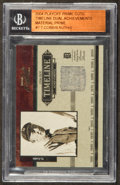 "Baseball Cards:Singles (1970-Now), 2004 Playoff Prime Cuts ""Timeline"" Babe Ruth/Ty Cobb Jersey SwatchCard #'d 1/9. ..."