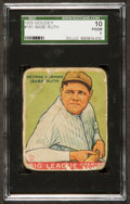 Baseball Cards:Singles (1930-1939), 1933 Goudey Babe Ruth #181 SGC 10 Poor 1....