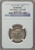 Standing Liberty Quarters: , 1917-S 25C Type One -- Improperly Cleaned -- NGC Details. AU. NGCCensus: (9/236). PCGS Population (30/466). Mintage: 1,952...