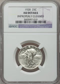Standing Liberty Quarters: , 1928 25C -- Improperly Cleaned -- NGC Details. AU. NGC Census:(6/549). PCGS Population (13/729). Mintage: 6,336,000. Numis...