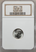 Roosevelt Dimes: , 1960 10C MS67 W NGC. NGC Census: (271/0). PCGS Population (43/0).Mintage: 70,300,000. Numismedia Wsl. Price for problem fr...