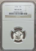 Mercury Dimes: , 1938 10C MS66 Full Bands NGC. NGC Census: (249/132). PCGSPopulation (642/227). Mintage: 22,198,728. Numismedia Wsl. Price...
