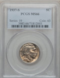 Buffalo Nickels: , 1937-S 5C MS66 PCGS. PCGS Population (1521/104). NGC Census:(915/59). Mintage: 5,635,000. Numismedia Wsl. Price for proble...