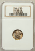 Mercury Dimes: , 1940-D 10C MS67 Full Bands NGC. NGC Census: (197/4). PCGSPopulation (308/22). Mintage: 21,198,000. Numismedia Wsl. Pricef...