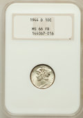 Mercury Dimes: , 1944-D 10C MS66 Full Bands NGC. NGC Census: (2368/1202). PCGSPopulation (3662/1247). Mintage: 62,224,000. Numismedia Wsl. ...
