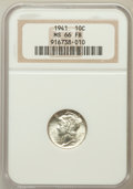 Mercury Dimes: , 1941 10C MS66 Full Bands NGC. NGC Census: (509/292). PCGSPopulation (1002/265). Mintage: 175,106,560. Numismedia Wsl.Pric...
