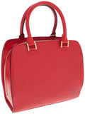 Luxury Accessories:Bags, Louis Vuitton Red Epi Leather Pont-Neuf Top Handle Bag. ...