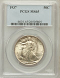 Walking Liberty Half Dollars: , 1937 50C MS65 PCGS. PCGS Population (1422/710). NGC Census:(1017/440). Mintage: 9,527,728. Numismedia Wsl. Price for probl...