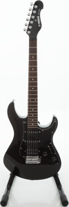 Musical Instruments:Electric Guitars, 1990s Yamaha EG-112C2 Metallic Black Solid Body Electric Guitar, Serial # Y0405. ...