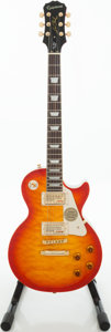 Musical Instruments:Electric Guitars, 2011 Epiphone Les Paul Ultra Faded Cherry Sunburst Solid BodyElectric Guitar, Serial # 11031506704....