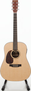 Musical Instruments:Acoustic Guitars, 2011 Martin DXME-L Left Handed Natural Acoustic Electric Guitar, Serial # 1496864....