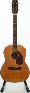 Musical Instruments:Acoustic Guitars, Circa 1975 Yamaha FG-75 Natural Acoustic Guitar, Serial # T0212553. ...