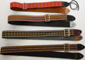 Musical Instruments:Miscellaneous, 1960s-1970s Vintage Guitar Strap Lot of 4....