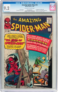 The Amazing Spider-Man #18 (Marvel, 1964) CGC NM- 9.2 Off-white to white pages