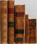 Books:Fine Bindings & Library Sets, [Leather-Bound Volumes]. Lot of Five Leather-Bound Books. [Various publishers, dates, editions]. Generally fair.... (Total: 5 Items)