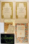 Books:Books about Books, [Calligraphy]. Lot of Five Volumes Related to Calligraphy. [Various publishers, dates, editions]. All softcovers. Generally ... (Total: 5 Items)