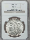 Morgan Dollars: , 1899 $1 MS61 NGC. NGC Census: (364/6982). PCGS Population(224/9716). Mintage: 330,846. Numismedia Wsl. Price for problemf...