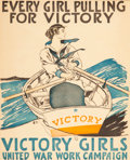 Fine Art - Work on Paper:Print, EDWARD PENFIELD (American, 1866-1925). Every Girl Pulling ForVictory, 1918. Color lithograph. 33 x 28 inches (83.8 x 71...