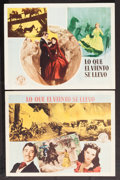 "Movie Posters:Academy Award Winners, Gone with the Wind & Others Lot (MGM, R-1950s). Spanish Language Lobby Cards (2) & Lobby Cards (3) (10.5"" X 14"" & 11"" X 14"")... (Total: 5 Items)"