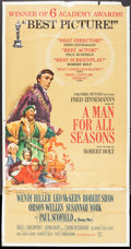 "Movie Posters:Academy Award Winners, A Man For All Seasons (Columbia, 1966). Three Sheet (41"" X 78.5"").Academy Award Style.. ..."