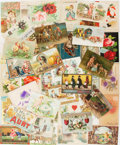 Books:Prints & Leaves, [Greeting Cards]. Lot of 67 Full-Color Late Nineteenth- and EarlyTwentieth-Century Greeting Cards. Generally good....