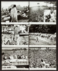 "Movie Posters:Rock and Roll, Woodstock (Warner Brothers, 1970). Deluxe Photos (6) (11"" X 14"").Rock and Roll.. ... (Total: 6 Items)"