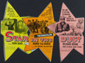 "Movie Posters:Western, Star in the Dust & Others Lot (Universal International, 1956). Studio Mailers (7) (3.5"" X 7.5"", 4"" X 8"", & 4"" X 9""). Western... (Total: 7 Items)"