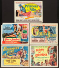 "Movie Posters:Adventure, Princess of the Nile and Others Lot (20th Century Fox, 1954). TitleLobby Cards (5) (11"" X 14""). Adventure.. ... (Total: 5 Items)"