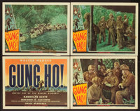 """Gung Ho! (Universal, 1943). Title Lobby Card and Lobby Cards (3) (11"""" X 14""""). War. ... (Total: 4 Items)"""