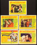 """Movie Posters:Swashbuckler, Scaramouche (MGM, 1952). Title Lobby Card and Lobby Cards (4) (11"""" X 14""""). Swashbuckler.. ... (Total: 5 Items)"""