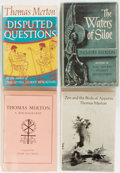 Books:Literature 1900-up, Thomas Merton. Lot of Three First American Editions and One Bibliography. [Various publishers, dates]. In dust jackets. Gene... (Total: 4 Items)