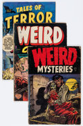 Golden Age (1938-1955):Horror, Comic Books - Assorted Golden Age Horror Comics Group (VariousPublishers, 1950s).... (Total: 3 Comic Books)