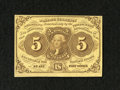Fractional Currency:First Issue, Fr. 1230 5c First Issue Choice New. This is a very attractive example of this first issue type note which has bold yellow an...