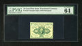 Fractional Currency:First Issue, Fr. 1242 10c First Issue PMG Choice Uncirculated 64. This is a near-Gem EPQ example, with bright paper, excellent centering,...