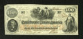 Confederate Notes:1862 Issues, T41 $100 1862. The upper left-hand corner tip has been clipped onthis example. Choice About Uncirculated....