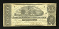 Confederate Notes:1862 Issues, T51 $20 1862. Fine, CC. Lightly handled edges encircle this Fine, CC $20....