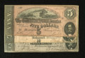 Confederate Notes:Group Lots, Three Different 1864 Notes.. T67 $20 1864 VF. T68 $10 1864 VF. T69$5 1864 VF, toning.. ...