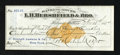 Miscellaneous:Checks, Helena, MT- Banking House of L.H. Hershfield & Bro. $194.27Check Nov. 10, 1874. ...