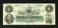 Obsoletes By State:Rhode Island, Providence, RI- Bank of America $1 18__. Plate letter A is on this remainder. The original sheets for this denomination cons...