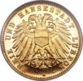 German States, German States: Lubeck. Free City gold Proof 10 Mark 1905-A,...